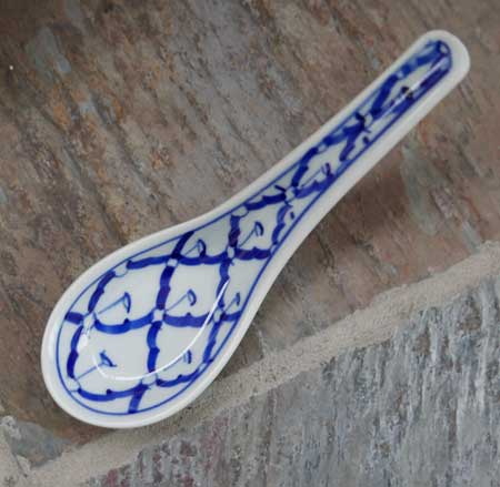 Thai Ceramic Spoon, Handpainted