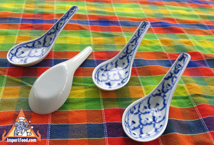 Thai ceramic spoon, set of two