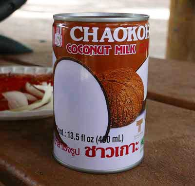 Thai coconut milk, Chaokoh brand - cans