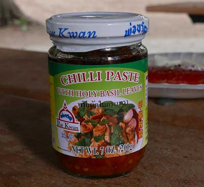 Thai Chili Paste with Holy Basil Leaves