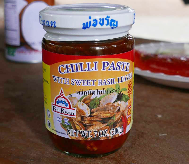 Thai Chili Paste With Sweet Basil Leaves Importfood
