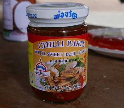 Thai Chili Paste With Sweet Basil Leaves