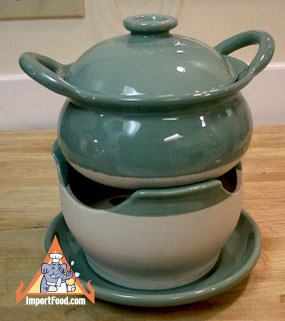 Thai Ceramic Hot Pot with Base