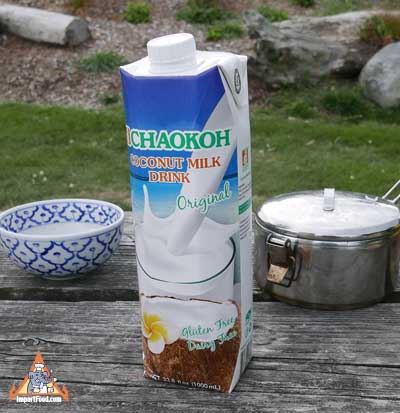 Thai Coconut Milk Drink, Chaokoh brand