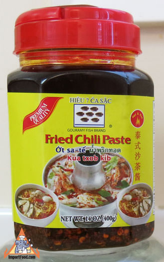 Thai Fried Chili Paste for Tom Yum, 14 oz