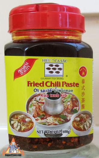Thai Fried Chili Paste for Tom Yum, 14 oz