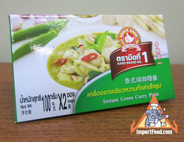 Thai Green Curry Paste - Hand Brand - Mae Ploy