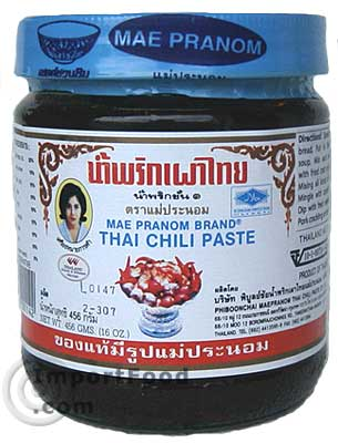 Prik Pao - Roasted Chili in Oil - Mae Pranom Brand