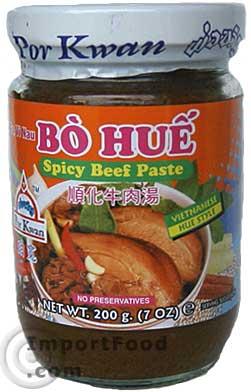 Spicy Beef Paste, Por Kwan Brand