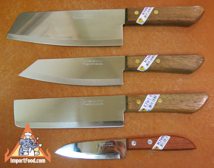 Set of four Thai knives, Kiwi