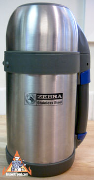 Stainless Steel Thermos, Zebra brand
