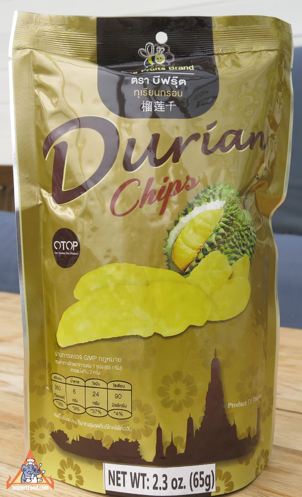 Thai Durian Snack, All Natural 2.3 oz