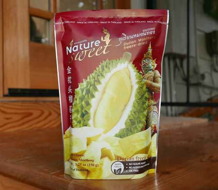 Thai Durian Freeze-Dried, All Natural 5.25 oz