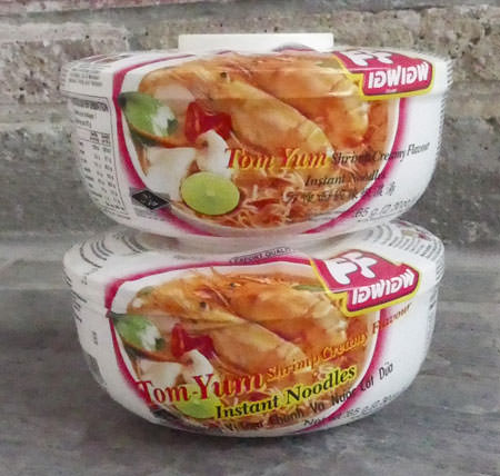 Instant Tom Yum Shrimp Creamy Noodle Soup