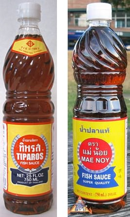 Mae noy fish sauce tiparos importfood for Thai kitchen fish sauce
