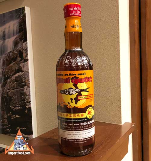 Flying lion fish sauce importfood for Thai kitchen fish sauce