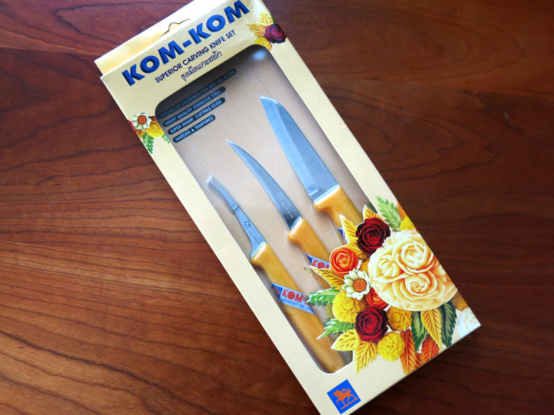 Kom-Kom Fruit & vegetable carving knife set, 3 piece