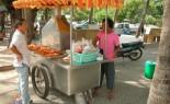 Barbecue Chicken Vendor At Seaside Resort - Bang Saen