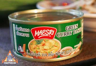 Green Curry Paste, Maesri