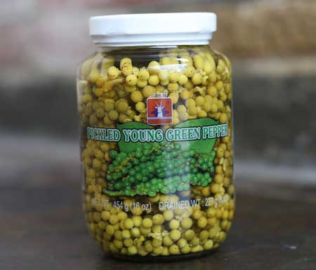 Young Green Thai Peppercorns