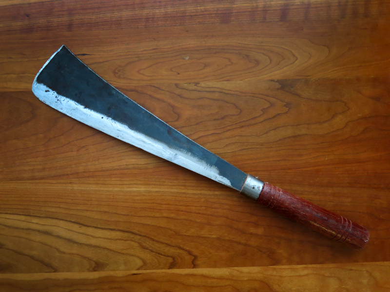 Handmade Palm and Coconut Cleaver