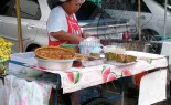 Thai Street Vendor Offers Haw Mukh from a Push Cart