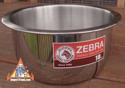 Indian Pan, Zebra, Stainless