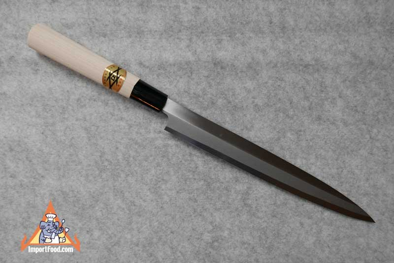 Hand Crafted Sashimi Knife, Magnolia Handle, Japan, 18