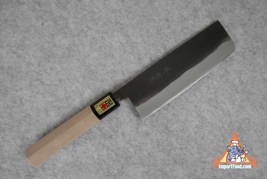 Hand Crafted Nakiri Knife, Magnolia Handle, Sakai Japan, 15