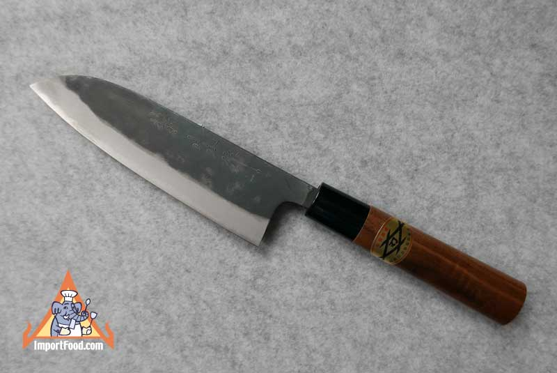 Hand Crafted Santoku Knife, Walnut Handle, Japan, 14.5