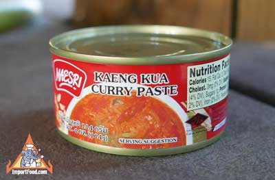 Kaeng Kua Curry Paste, Maesri