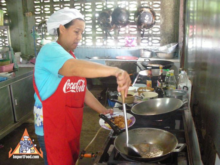 Kanchanaburi Open-Air Restaurant. Prik Keang