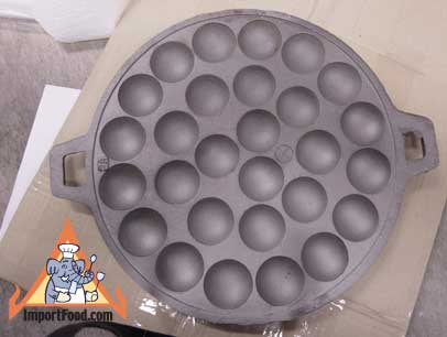 Kanom Krok Pan - Cast Iron w/Lid, 28 Cups