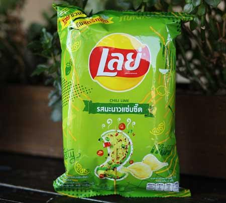 Thai Lays Potato Chips, Chili Lime, 48 gram