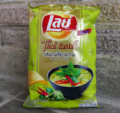 Thai Lays Potato Chips, Green Curry Flavor, 48 gram