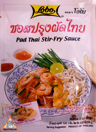 Lobo Pad Thai Sauce & Peanuts, 4 oz pack