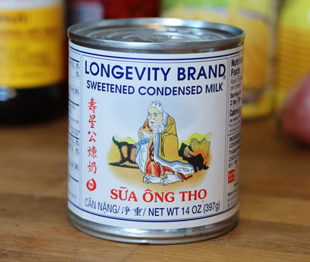Sweetened condensed milk, Longevity Brand, 14 oz can