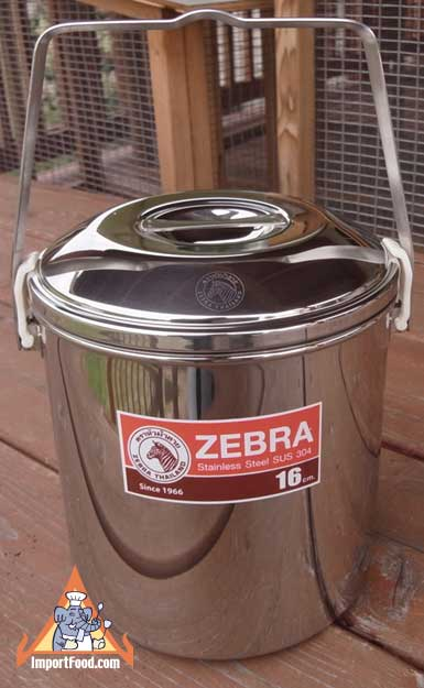 Loop Handle Pot, Zebra Thailand