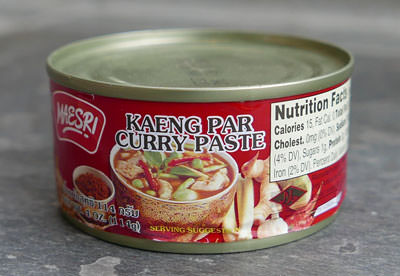 Kaeng Par Curry Paste, Maesri