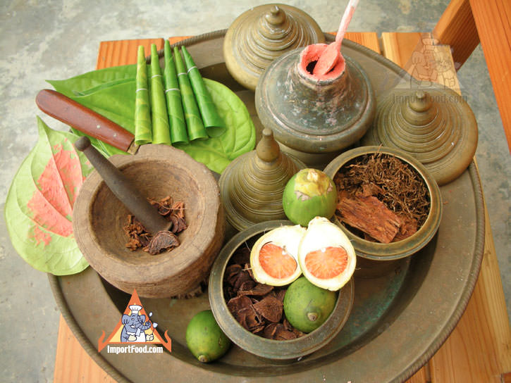 Betel Nut Chew Sets, 'Chien Mahk' Thai Custom