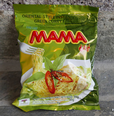Mama Brand, instant noodles, Thai green curry