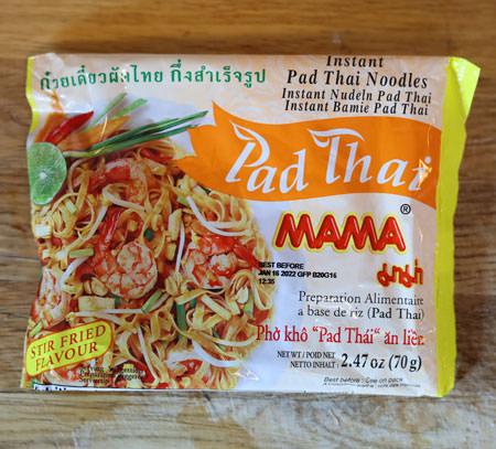 Mama brand, instant pad Thai