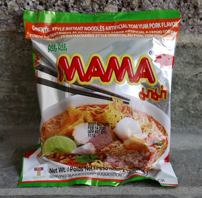 Mama brand tom yum pork noodles