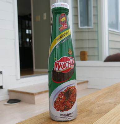 Hot basil sauce, Maxchup brand