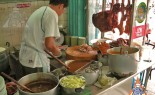 Bangkok Vendor Offers BBQ Red Pork in Gravy
