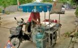 Thai Street Vendor Prepares Decorative Pancakes