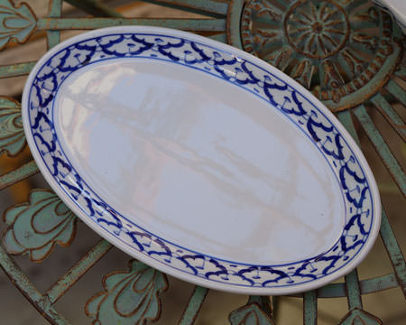Thai Ceramic, oval serving plate, 11 in