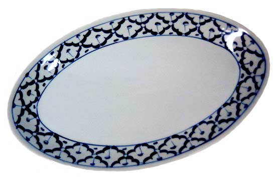 Thai Ceramic, oval serving plate, 10 in