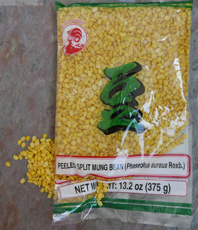 Peeled Split Mungbean, 12 oz pack