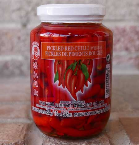 Thai Red Chili, Pickled